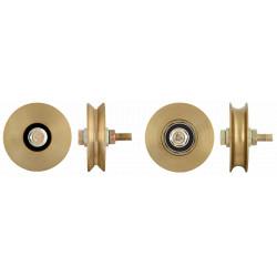 Roata Simpla cu Rulment pentru Porti Culisante / D[mm]: 60; Profil: V; S[kg]: 100
