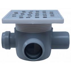 Sifon Pardoseala Patrat cu Inaltator SL 2 Intrari 90/180 grade Stanga SP-H75-160-1 / Hmin-max[mm]: 95/125; Dev[mm]: 50; Di[mm]: 40