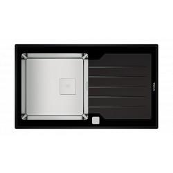 Chiuveta Teka Premium Line DIAMOND RS15 1B 1D 86 inox + sticla (neagra) 115100011