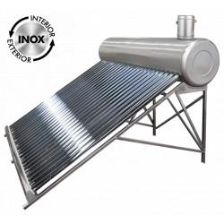 Sistem Panou Solar cu Tuburi Vidate SP-470 C INOX / Vt[mm]: 166; Vr[l]: 122; T[buc]: 15; D[mm]: 58; L[mm]: 1800
