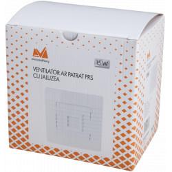 Ventilator AR Patrat pRs / d[mm]: 160.5x160.5; D[mm]: 100; P[W]: 15; Tip: cu Jaluzea; Da[mc/h]: 97