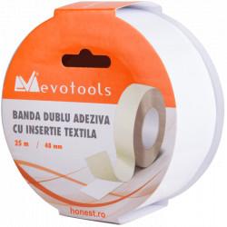Banda Dublu Adeziva din Material Textil Netesut / B[mm]: 48; L[m]: 25