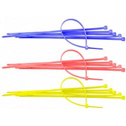 Colier Plastic Colorat 100 pcs / B[mm]: 3.5; L[mm]: 140; C: rosu