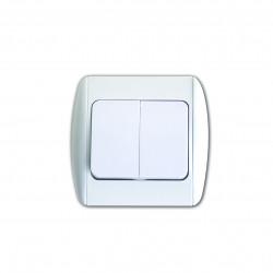 Intrerupator dublu-alb MK-SW01