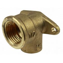 Racord Cotit Bronz cu Suport (Teava Cupru) / Di[inch]: 1/2; DI[mm]: 18
