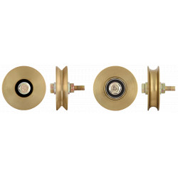 Roata Simpla cu Rulment pentru Porti Culisante / D[mm]: 60; Profil: R; S[kg]: 100