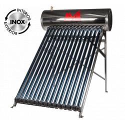 Sistem Panou Solar Presurizat cu Tuburi Heat Pipe 1024P-58 INOX / V[l]: 122; T[buc]: 15; D[mm]: 58; L[mm]: 1800