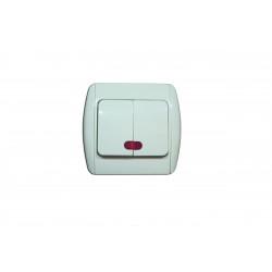 Intrerupator dublu cu led-alb MK-SW02