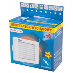 Ventilator cu Jaluzea Automata / Tip: C49; D[mm]: 100; B[mm]: 140; L[mm]: 160; P[W]: 14; Q[mc/h]: 80; H[pa]: 40