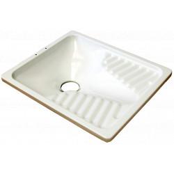 Vas WC Turcesc din Otel Emailat / L[mm]: 650; B[mm]: 550