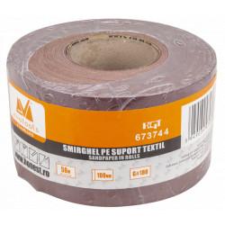 Smirghel pe Suport Textil ETS / L[m]: 50; B[mm]: 100; G[#]: 80