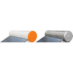Vas Acumulare Sistem Panou Solar cu Tuburi Vidate SP-470 / C: 673683; T: Otel Vopsit; V[l]: 80; Tuburi: 10; D[mm]: 47; L[mm]: 1500