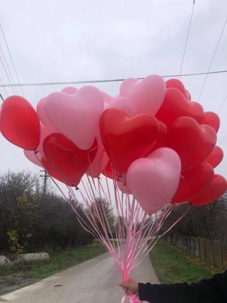 Baloane cu heliu inima