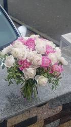 Buchet Bujori roz romantici