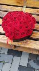 Cutie cu 31 de trandafiri sub forma de Inima