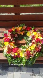 Coroana funerara Flori colorate 40 cm