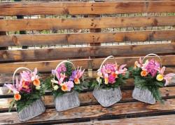 Cosulet rustic cu flori