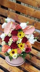 Cutie cu flori rafinate