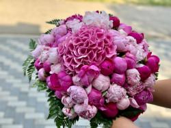 Buchet de bujori roz mare