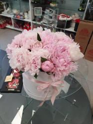 Cutie cu bujori roz