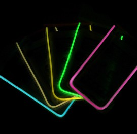 Husa Subacvatica pentru telefon - fosforescenta - NEGRU