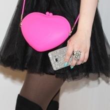 Geanta din silicon Heart - roz inchis