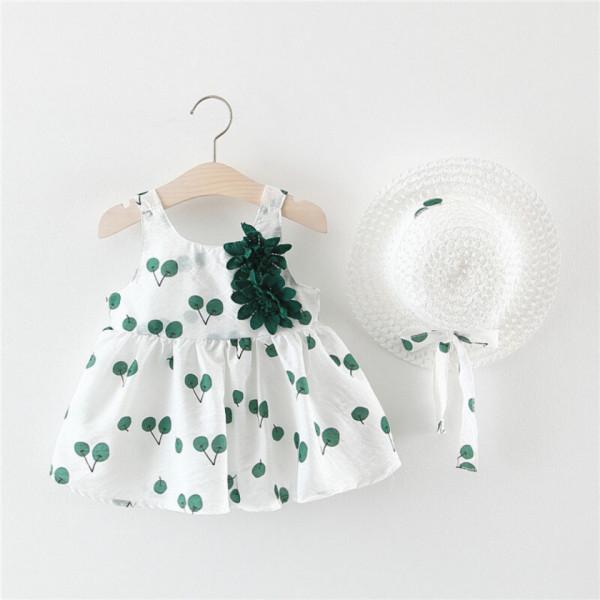 Rochie cu palarie Pina Verde