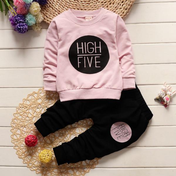 Set din doua piese High Five- Roz