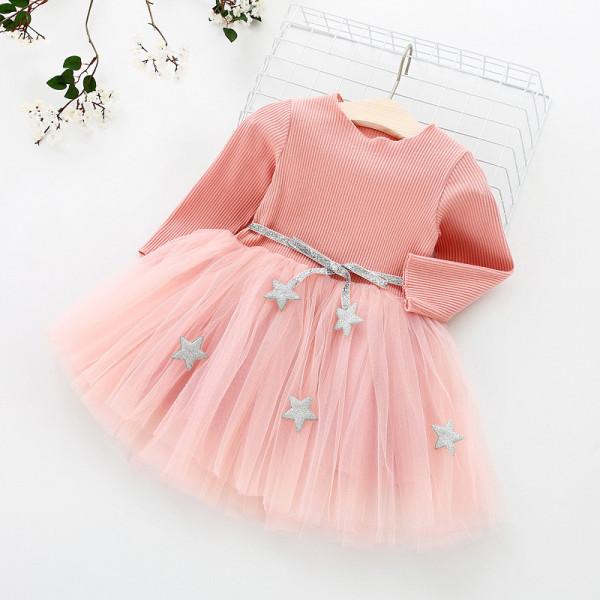 Rochie cu fusta din tulle Sparkle Roz