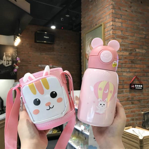 Termos -roz cu pahar