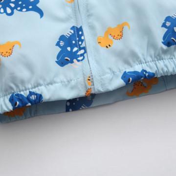 Jacheta cu detalii Greya Albastru