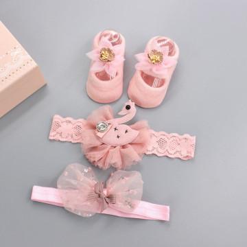 Set accesorii Fetite cu ciorapi Roz