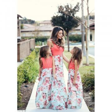 Rochie maxi cu imprimeu floral Valeria - Mama
