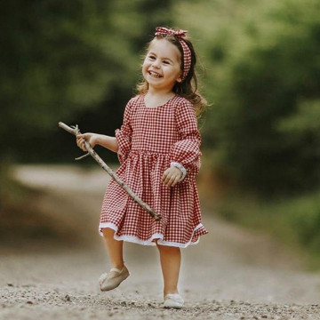 Rochie cu imprimeu cadrilat Mariola - Fiica