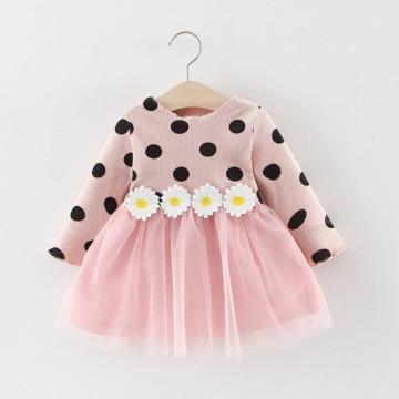 Rochie cu flori aplicate Teea