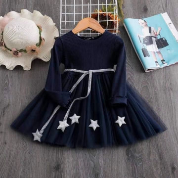 Rochie cu fusta din tulle Sparkle Bleumarin