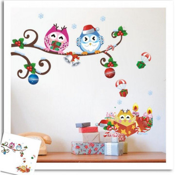 Sticker decorativ Christmas Owl