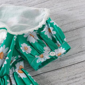 Rochie cu detalii Mei verde