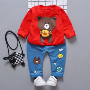 Set bluza si pantaloni Bear Rosu