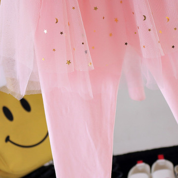Pantaloni cu detalii Steluta Roz