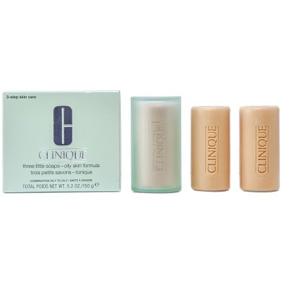 Tratament facial Clinique Three Little Soaps For Combination/Oily Skin