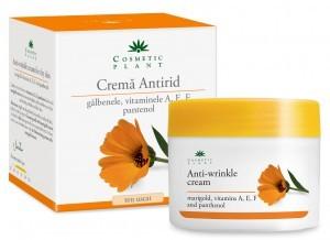 crema antirid cu galbenele cosmetic plant