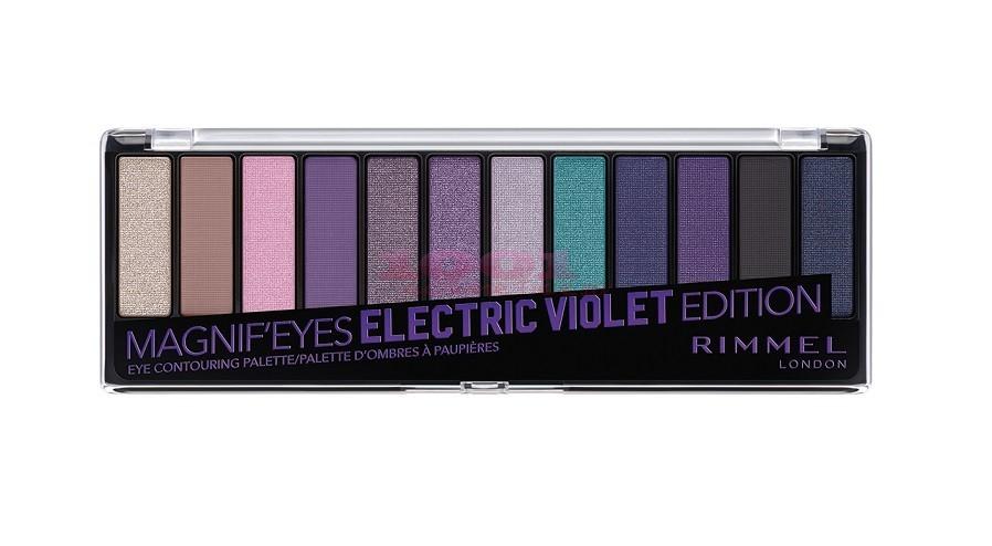 Paleta de Farduri Rimmel London Magnifeyes 008 Electric Violet