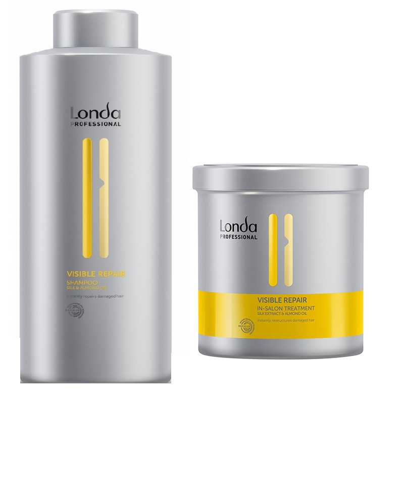 Set reparator Londa Professional Visible Repair cu 250 ml Sampon + 750 ml Tratament cu Pantenol