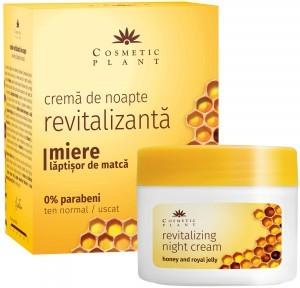 Crema de noapte revitalizanta cu miere si laptisor de matca Cosmetic Plant