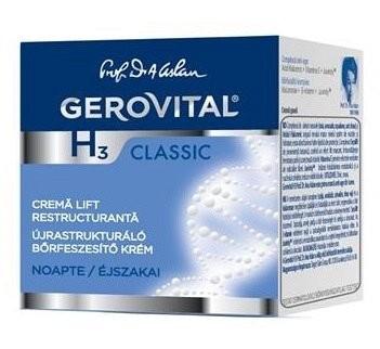 Crema lift hidratanta de noapte Gerovital H3 Classic