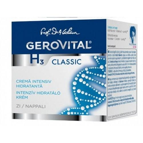 Crema intensiv hidratanta de zi Gerovital H3 Classic