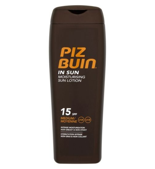 Lotiune hidratanta pentru expunerea la soare SPF 15 Piz Buin