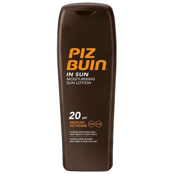 Lotiune hidratanta pentru expunerea la soare SPF 20 Piz Buin