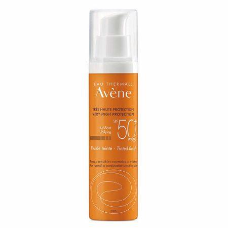 Crema anti-imbatranire nuantatoare cu protectie solara SPF 50+, Avene